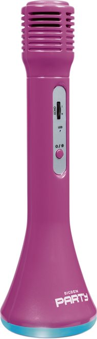 LIBRO_Bigben Party Mikrofon, Bluetooth, pink_€ 14,99_1